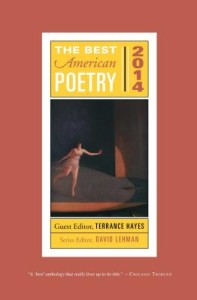 a copy of The Best American Poetry's newest anthology